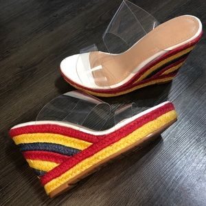 fa77cf06b887c0 Shoes -    PRICE IS FIRM   Multi color wedge sandals